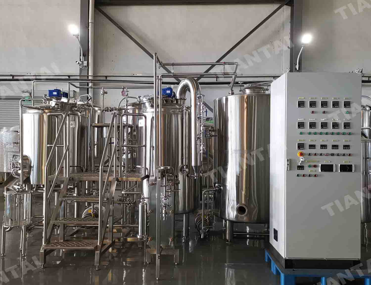 500L direct fire heating brewery installed in Australia