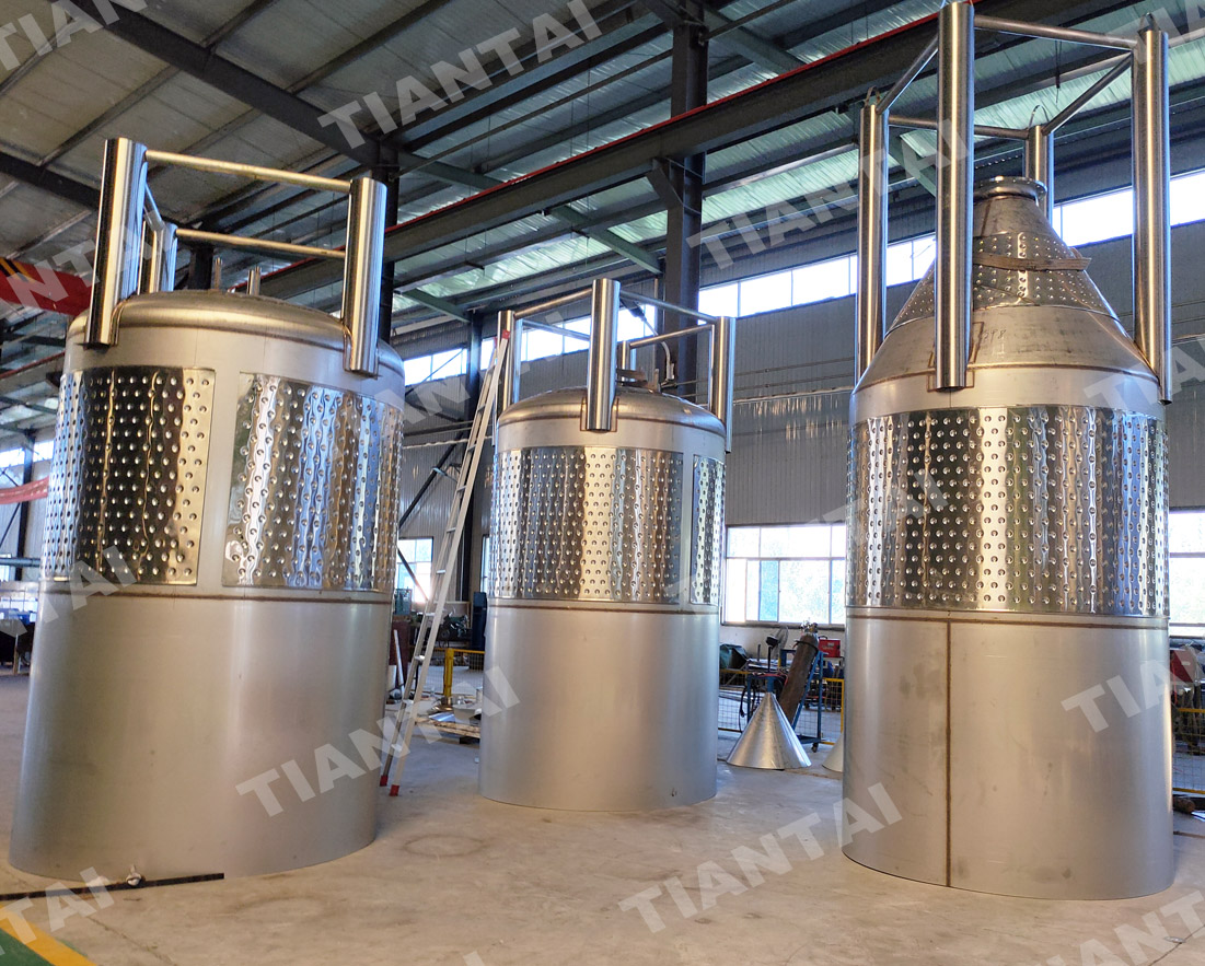 <b>Tiantai 20T fermenters and bbts started fabrication</b>
