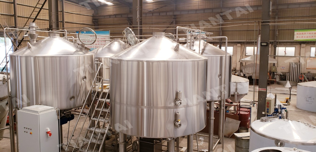 Turnkey 4 Vessel 40 hl Beer Brewery Ready For Shipping