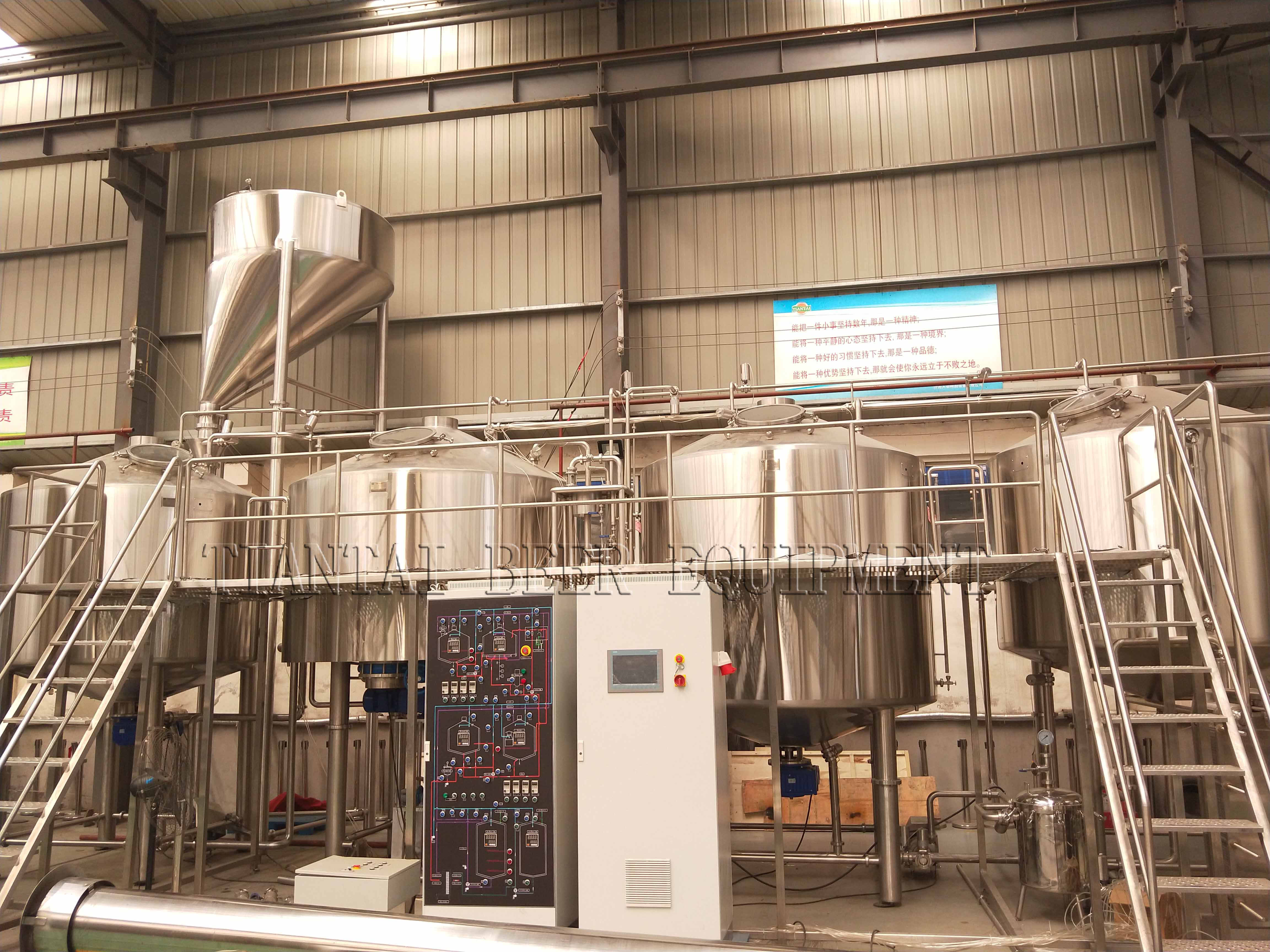 PLC Controlled 5000L four vessel brewery equipment with 200HL