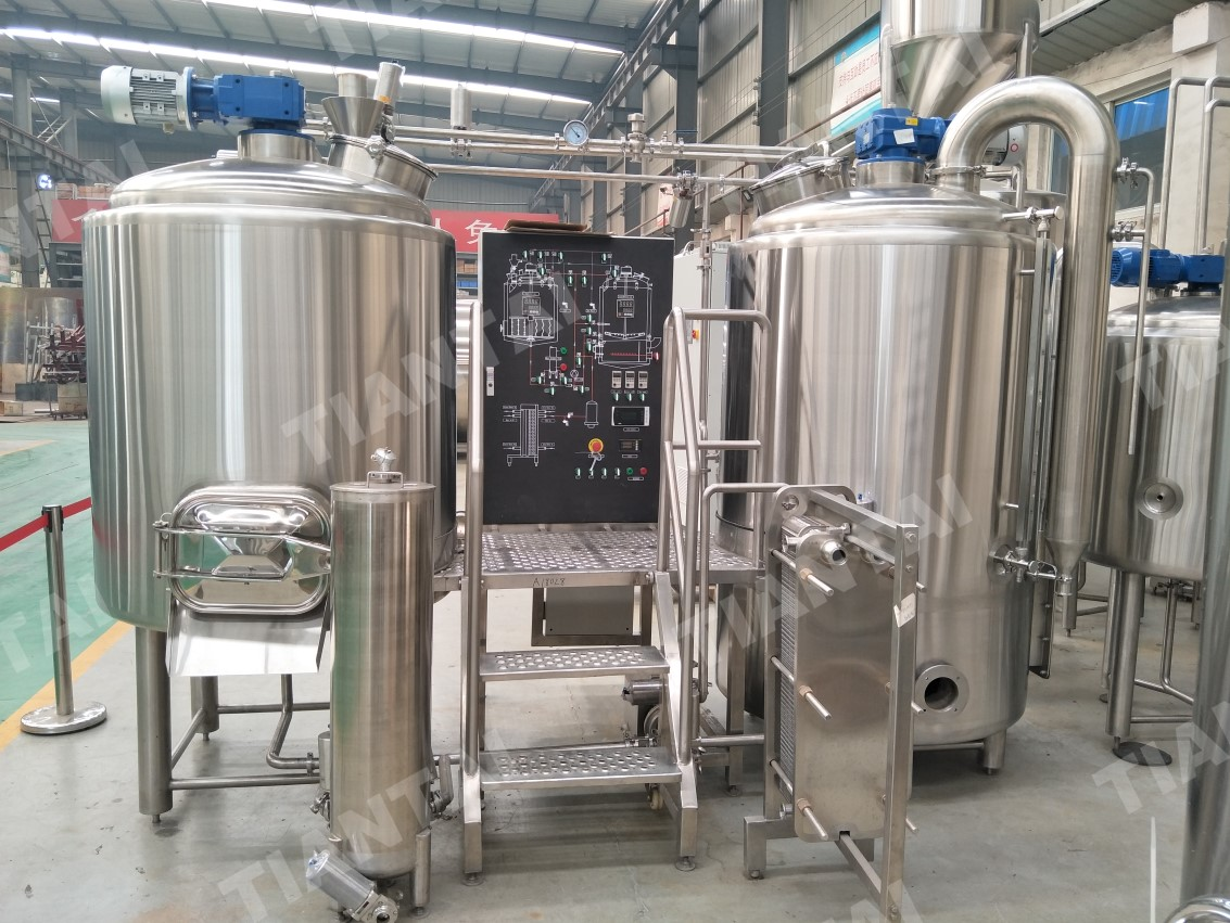 <b>Two vessel 7 BBL microbrewery system ready for Shipping</b>