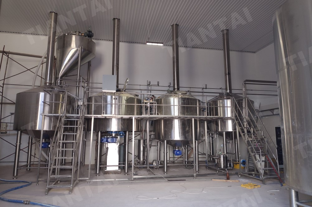The 5000L Commercial beer brewing equipment installed in Azerbaijan