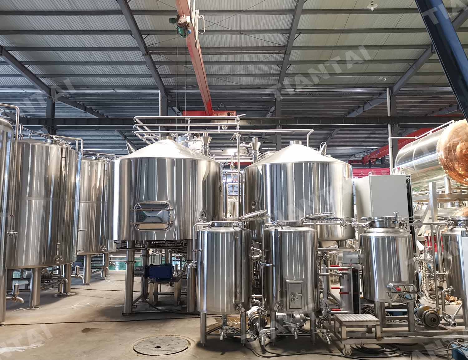 American Four vessel 20bbl steam heating beer brewing equipment