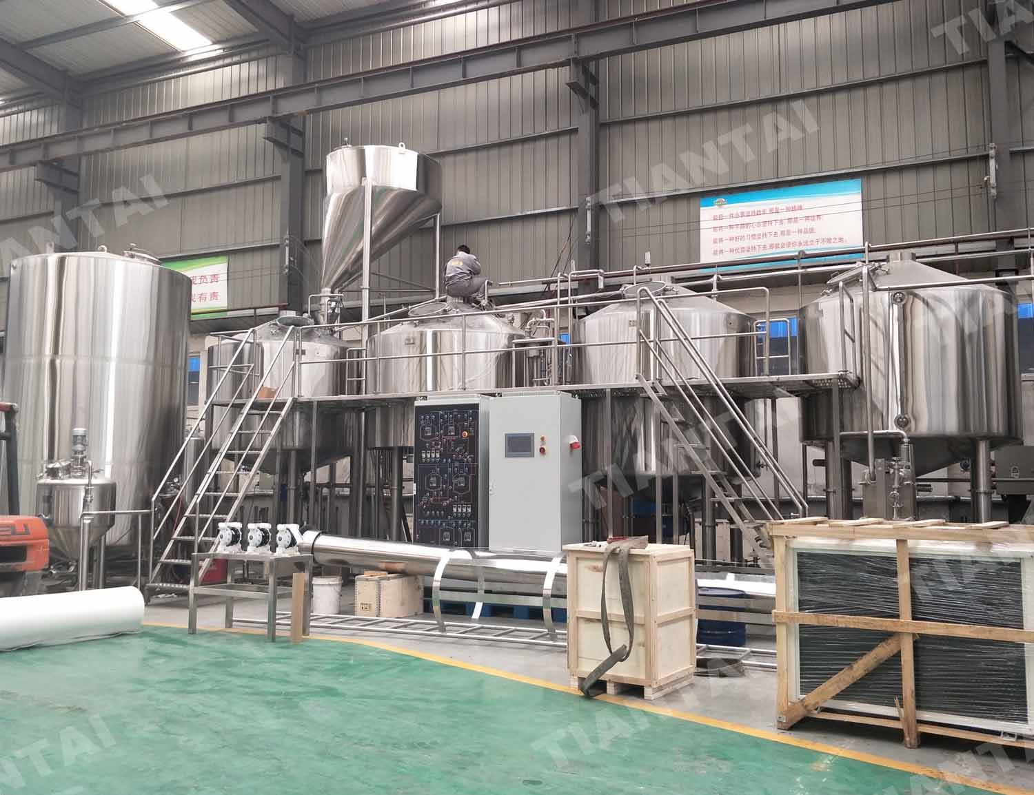 Azerbaijan 5000L four vessel brewhouse