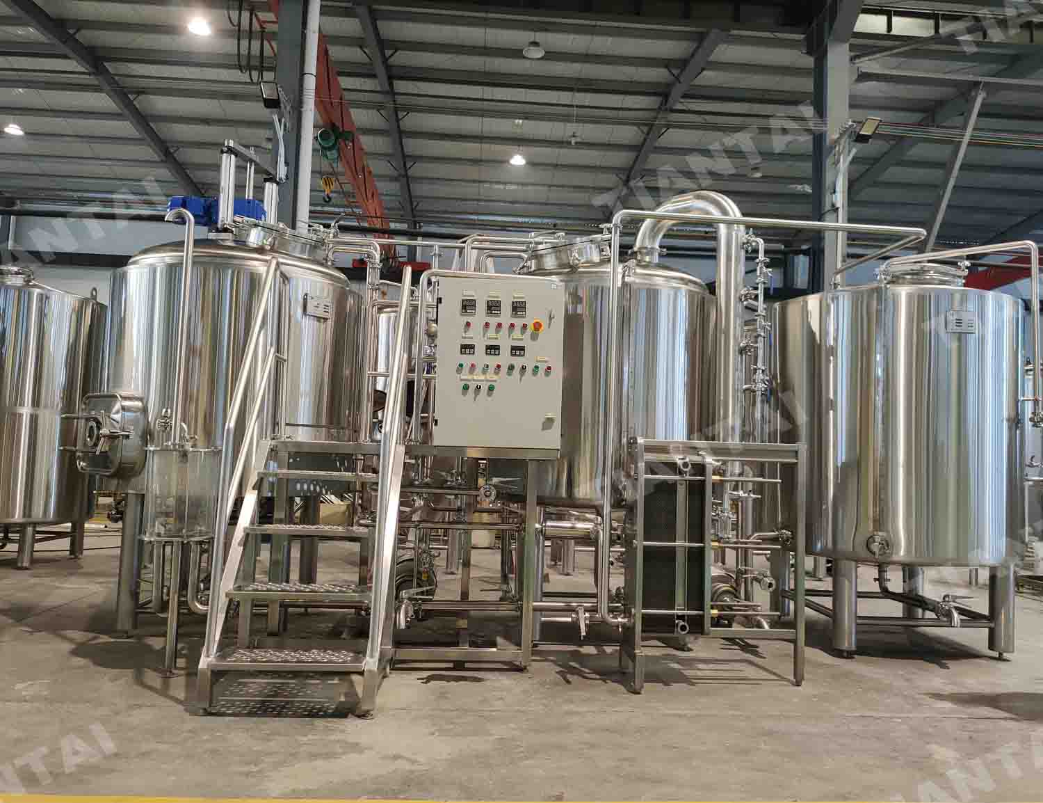 France 1000L two vessel steam heating beer brewing equipment