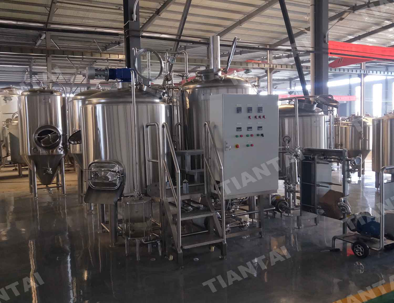 Canada 7bbl two vessel direct fire heating beer equipment