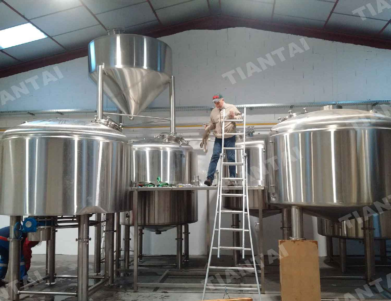 French 2000L three vessel beer brewery equipment