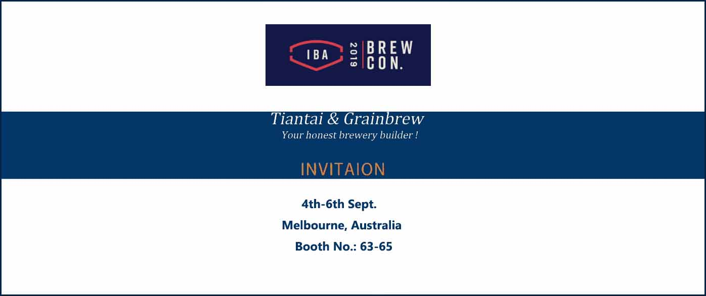 <b>Tiantai will attend Brewcon 2019 in Australia!</b>