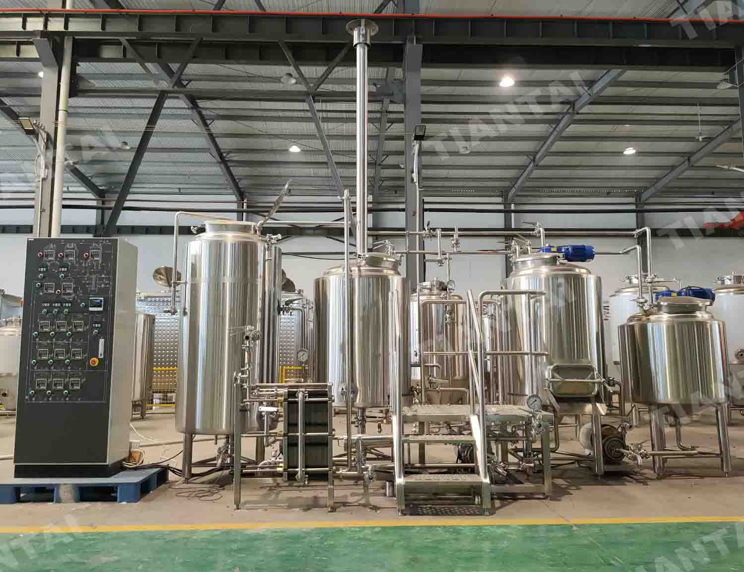 300L stainless steel three vessel beer brewing system